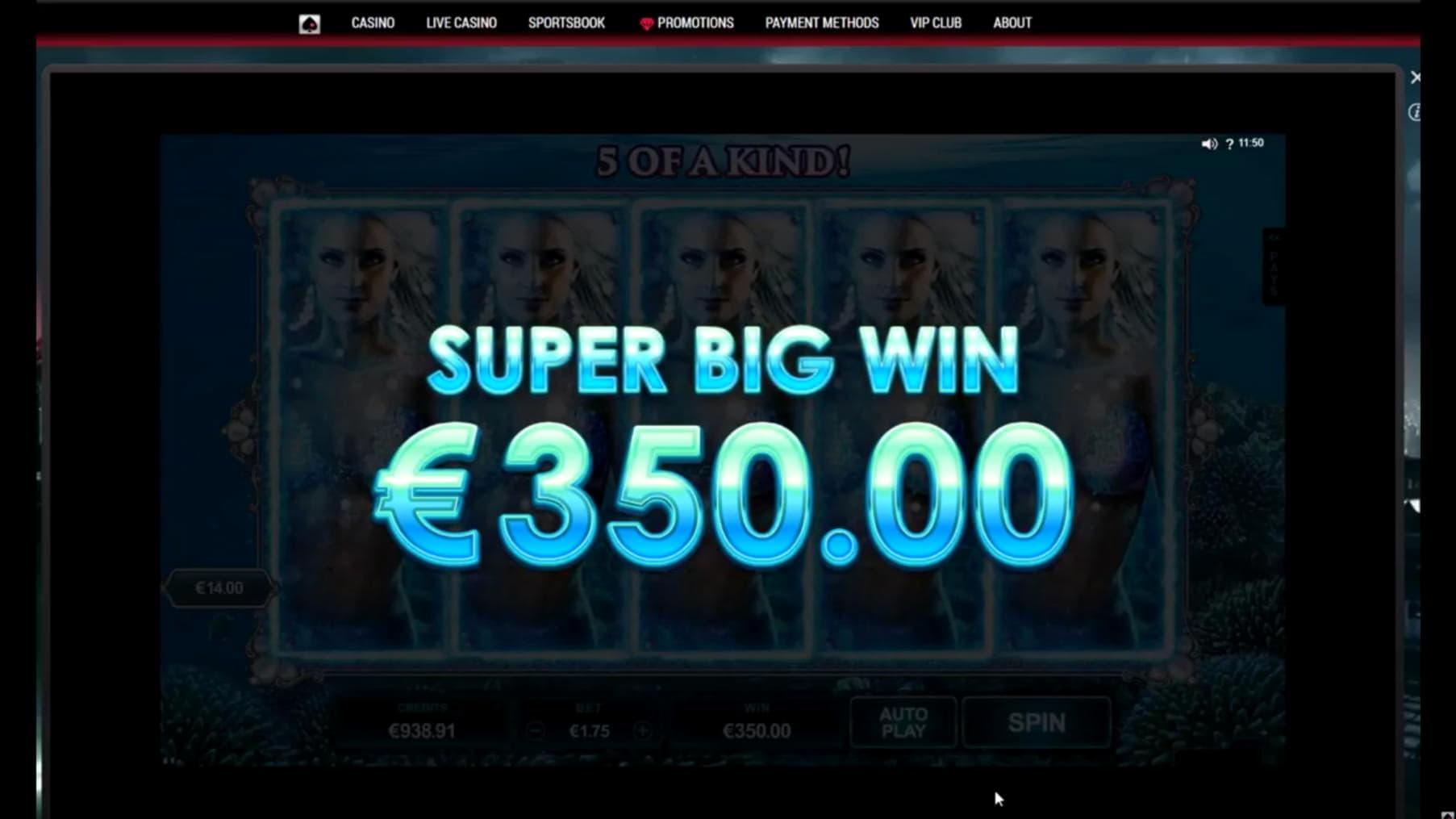 115% Match bonus casino at Unique Casino