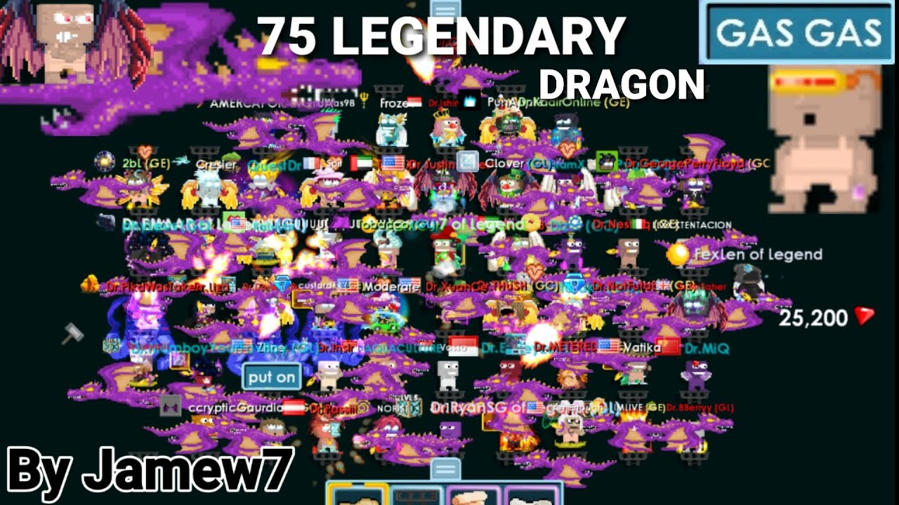 75 Legendary Dragon! ATTACK IN CASINO WORLD! (GONE WRONG!) OMG!! - Growtopia