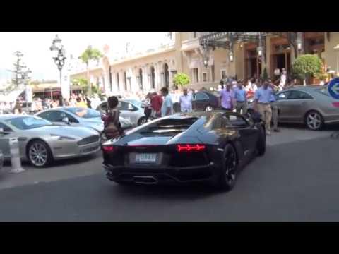 Lamborghini Aventador At The Casino Monte Carlo!!!