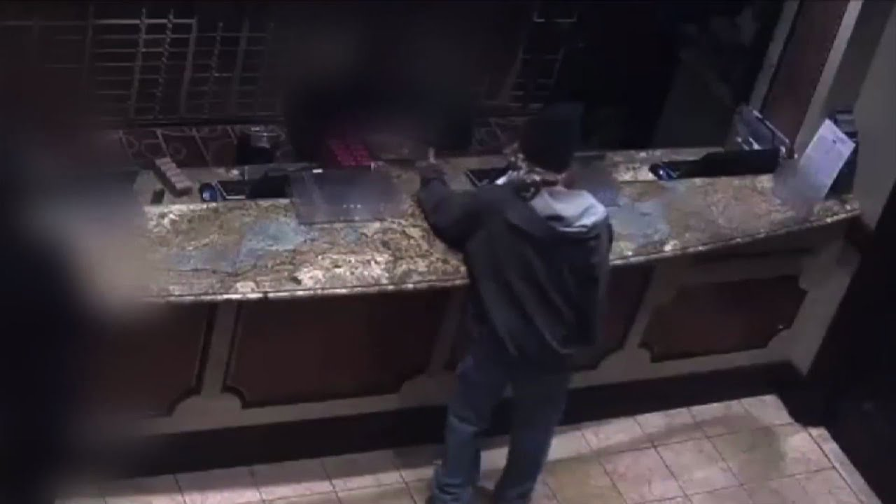 Surveillance Footage Shows Man Robbing Casino